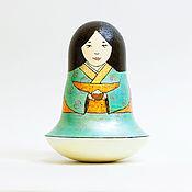 Подарки к праздникам ручной работы. Ярмарка Мастеров - ручная работа Неваляшка с чашкой риса. Handmade.