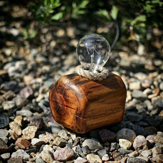 Освещение ручной работы. Ярмарка Мастеров - ручная работа. Купить Светильник из дерева. Handmade. Светильник ручной работы, светильник из дерева
