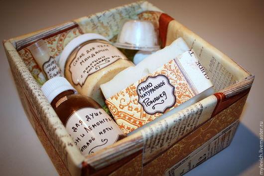 """Подарочные наборы косметики ручной работы. Ярмарка Мастеров - ручная работа. Купить Подарочный набор """"Большое душевное счастье"""" (с мылом с нуля). Handmade."""