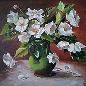 Картины ручной работы. Ярмарка Мастеров - ручная работа Букет белых цветов  (анемоны). Handmade.