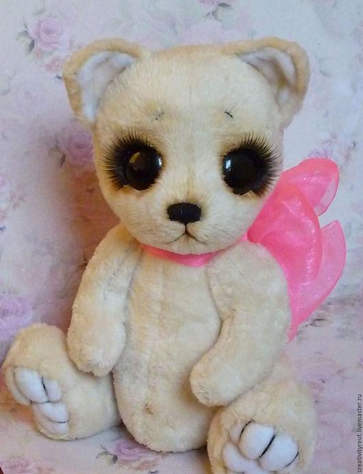 """Мишки Тедди ручной работы. Ярмарка Мастеров - ручная работа. Купить Кошечка """"Леся"""". Handmade. Бежевый, игрушка для детей, ресницы"""