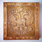 Картины и панно handmade. Livemaster - original item Russian coat of arms with Amber. Handmade.