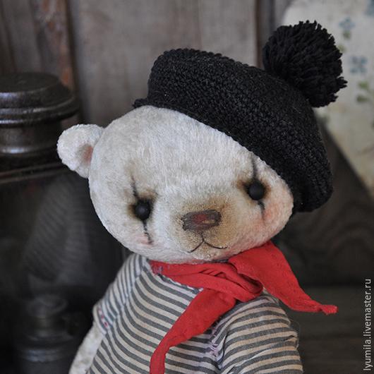 Мишки Тедди ручной работы. Ярмарка Мастеров - ручная работа. Купить мим Марсель. Handmade. Белый, полосатый, мим, берет
