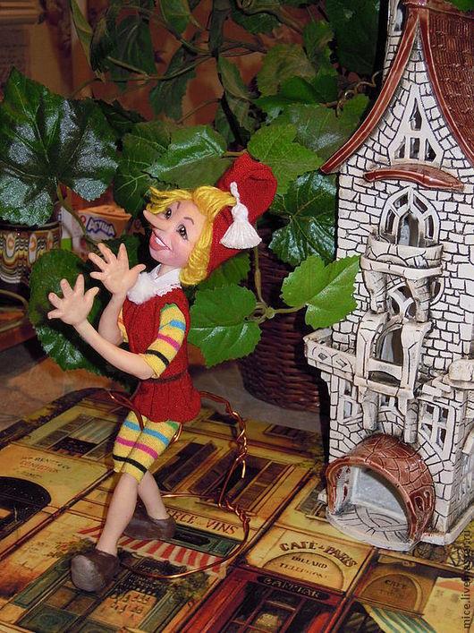 Сказочные персонажи ручной работы. Ярмарка Мастеров - ручная работа. Купить БУРАТИНО, интерьерная кукла. Handmade. Солнечный, буратино