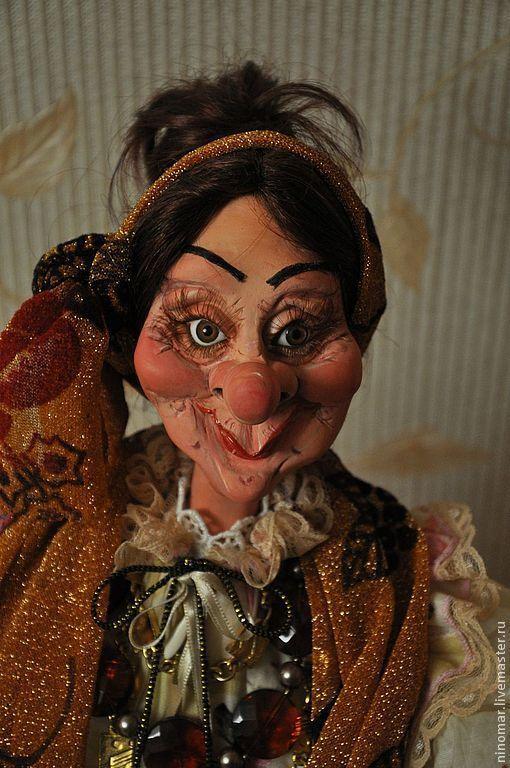 Коллекционные куклы ручной работы. Ярмарка Мастеров - ручная работа. Купить кукла из пластика Цыганка Розина.. Handmade. Бледно-розовый