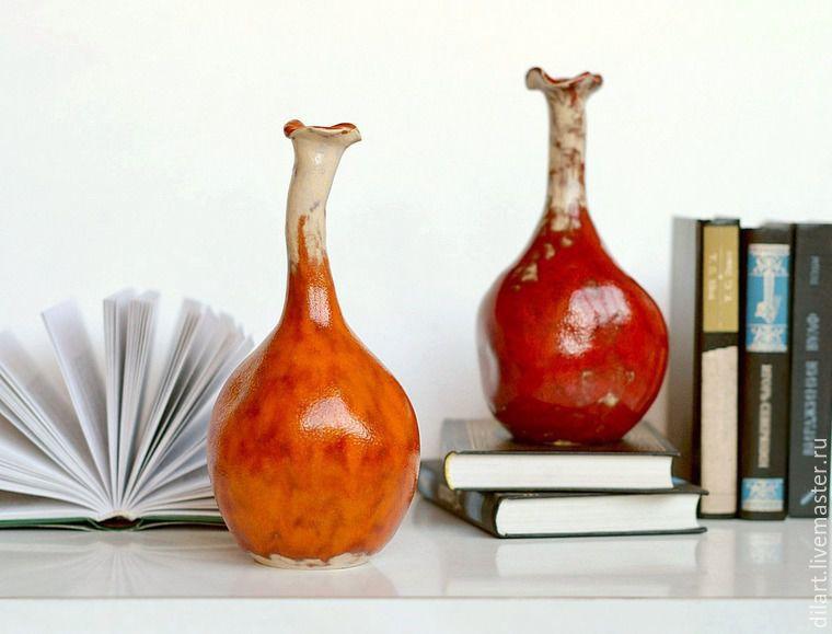Керамическая интерьерная ваза бутыль Жизнь на Марсе, Вазы, Москва,  Фото №1