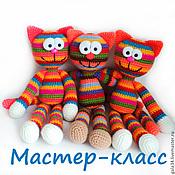 handmade. Livemaster - original item Master-class of crochet Toy rainbow Kitty. Handmade.