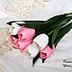 Цветы ручной работы. Ярмарка Мастеров - ручная работа. Купить Розовые тюльпаны из полимерной глины. Handmade. 8 марта