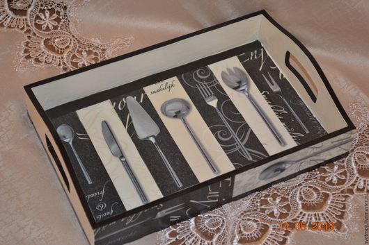 Кухня ручной работы. Ярмарка Мастеров - ручная работа. Купить Поднос деревянный. Handmade. Бежевый