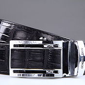 handmade. Livemaster - original item Crocodile leather belt IMA3022B. Handmade.