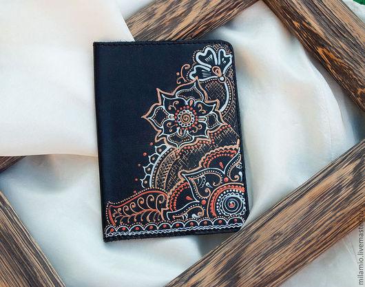 """Обложки ручной работы. Ярмарка Мастеров - ручная работа. Купить Обложка на паспорт кожаная """"Восток"""". Handmade. Обложка, для паспорта"""