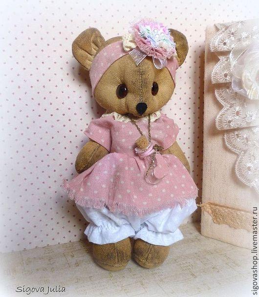 """Ароматизированные куклы ручной работы. Ярмарка Мастеров - ручная работа. Купить Мишка """"Малышка Ло"""". Handmade. Бледно-розовый, подарок"""