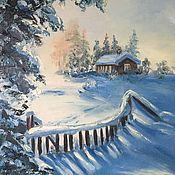 """Картины ручной работы. Ярмарка Мастеров - ручная работа Картины: """"Солнечное зимнее утро"""". Handmade."""