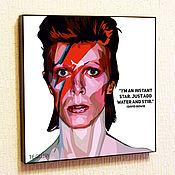 Картины и панно handmade. Livemaster - original item Picture poster Pop Art David Bowie David Bowie. Handmade.