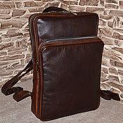 Сумки и аксессуары handmade. Livemaster - original item Men`s backpack made of genuine leather Blocks. Handmade.