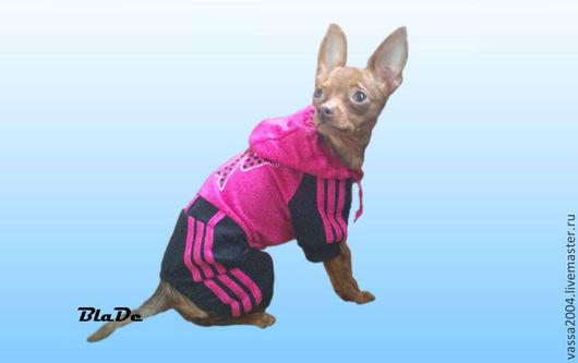 Одежда для собак, ручной работы. Ярмарка Мастеров - ручная работа. Купить Спортивный комбинезон для девочки. Handmade. Фуксия, комбинезон для собак