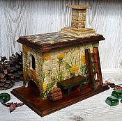 """Для дома и интерьера ручной работы. Ярмарка Мастеров - ручная работа Печка для чайных пакетиков """"Одуванчики"""". Handmade."""