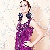 """Одежда ручной работы. Ярмарка Мастеров - ручная работа Валяное платье """"ФиолеТ"""". Handmade."""