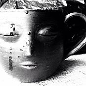 Посуда ручной работы. Ярмарка Мастеров - ручная работа Чашки глиняные волшебник чайные и кофейные.. Handmade.