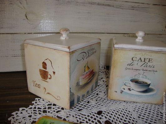 """Корзины, коробы ручной работы. Ярмарка Мастеров - ручная работа. Купить коробочки для чая,кофе  """"Сладкоежка"""". Handmade. Коробочка для подарка"""
