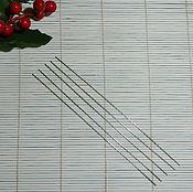 Материалы для творчества ручной работы. Ярмарка Мастеров - ручная работа Тонкие спицы 0,8 мм для ручного вязания. Handmade.