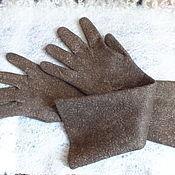 Аксессуары ручной работы. Ярмарка Мастеров - ручная работа Валяные перчатки...Тепло ль тебе девица... Handmade.