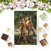Открытки handmade. Livemaster - original item Tiger Cubs Postcard. Handmade.