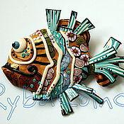 Украшения ручной работы. Ярмарка Мастеров - ручная работа Комплект из полимерной глины Рыбы. Handmade.