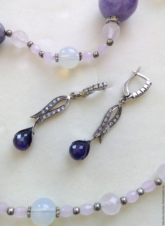 earrings Purple dance, Earrings, Nizhny Novgorod,  Фото №1