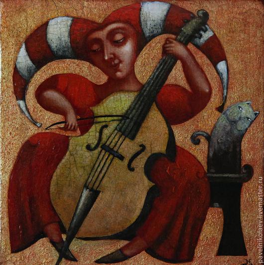 """Персональные подарки ручной работы. Ярмарка Мастеров - ручная работа. Купить """"Музыка"""", авторская печать. Handmade. Ярко-красный, музыка"""
