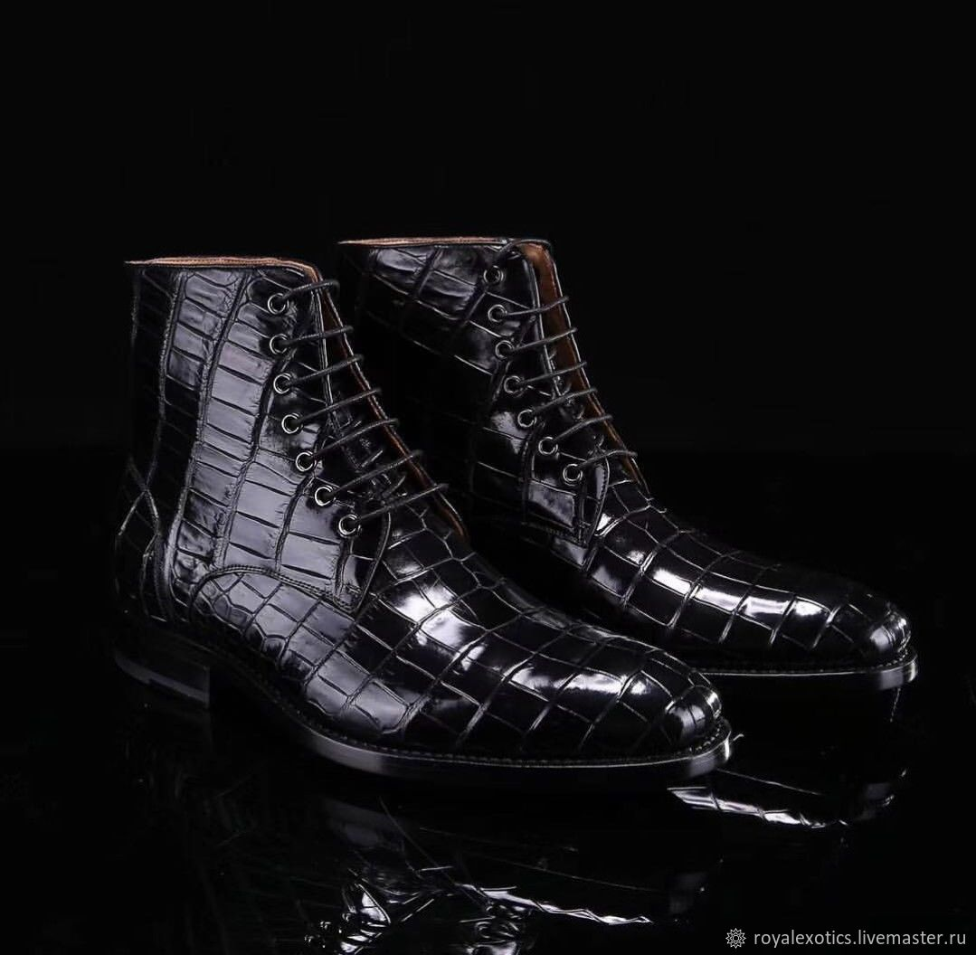 Crocodile leather ankle boots, premium, Boots, Tosno,  Фото №1