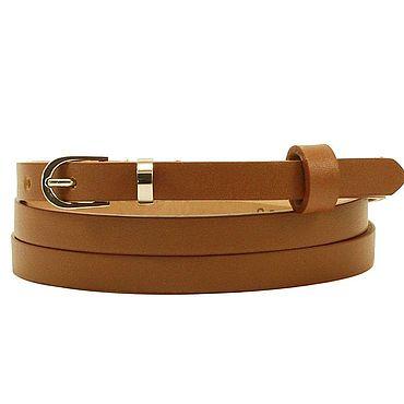 Accessories handmade. Livemaster - original item Copy of Copy of Copy of Leather light beige belt. Handmade.
