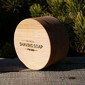 Косметика ручной работы handmade. Livemaster - original item Shaving soap, natural in a wooden box. Handmade.