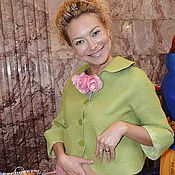 Одежда ручной работы. Ярмарка Мастеров - ручная работа Пиджак Душистый горошек. Handmade.