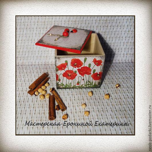 """Кухня ручной работы. Ярмарка Мастеров - ручная работа. Купить Короб из набора """"Маковый цвет"""".. Handmade. Набор для кухни"""