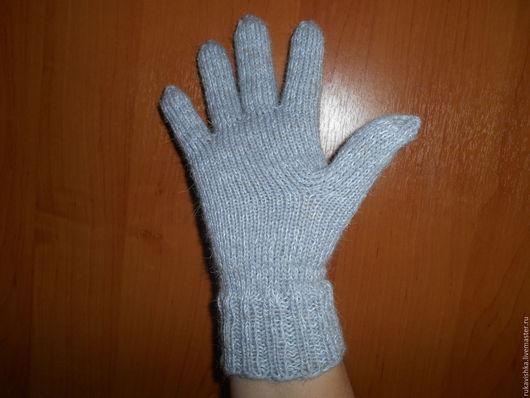Варежки, митенки, перчатки ручной работы. Ярмарка Мастеров - ручная работа. Купить Перчатки вязаные шерстяные серые. Handmade. Серый