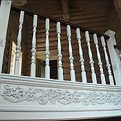 Для дома и интерьера ручной работы. Ярмарка Мастеров - ручная работа Лестница из ясеня с элементами резьбы. Handmade.