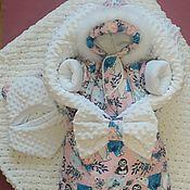 Комплект для выписки ручной работы. Ярмарка Мастеров - ручная работа Зимний комплект на выписку для маленькой принцессы. Handmade.