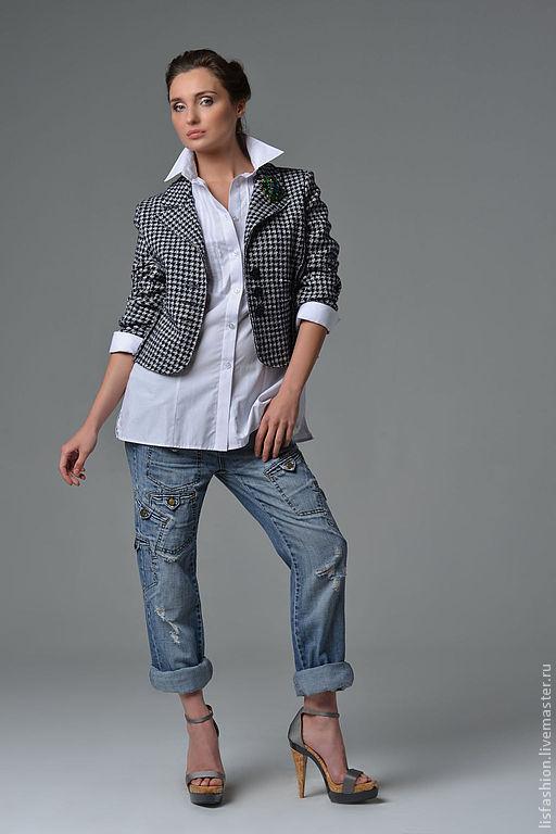 Пиджаки, жакеты ручной работы. Ярмарка Мастеров - ручная работа. Купить Жакет Мерри 2230218. Handmade. Чёрно-белый