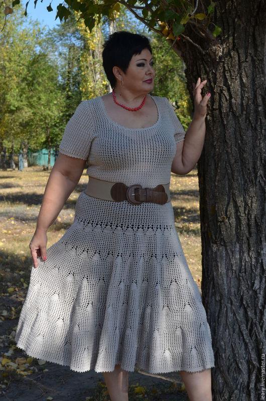 Платья ручной работы. Ярмарка Мастеров - ручная работа. Купить платье. Handmade. Серый, крючком, ручная работа, ручной работы