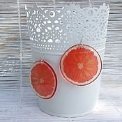 Украшения handmade. Livemaster - original item Transparent Earrings Juicy Orange. Handmade.