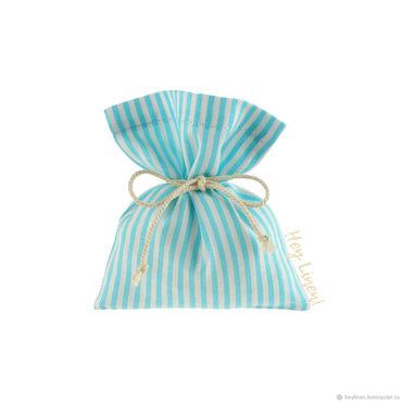 Souvenirs and gifts handmade. Livemaster - original item 10h12sm10sht. Cotton bags, white, blue striped, striped. Handmade.
