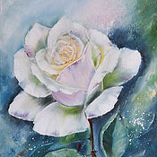 """Картины и панно ручной работы. Ярмарка Мастеров - ручная работа Картина маслом """"Белая роза"""". Handmade."""