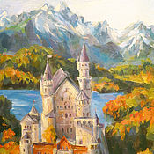 Картины и панно ручной работы. Ярмарка Мастеров - ручная работа Замок. Handmade.