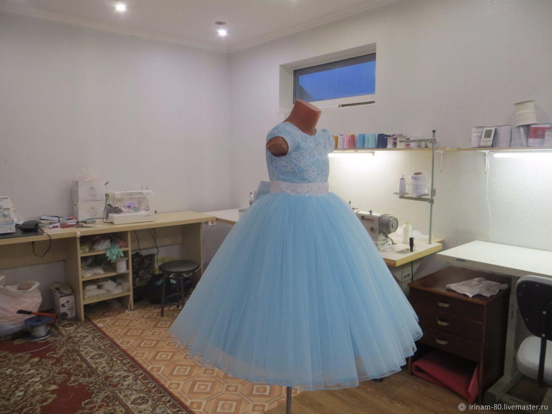 Одежда для девочек, ручной работы. Ярмарка Мастеров - ручная работа. Купить Нарядное платье для девочки. Handmade. Бирюзовый, платье в подарок