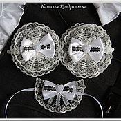 Работы для детей, ручной работы. Ярмарка Мастеров - ручная работа Бантики и галстук-брошь для школьницы - комплект. Handmade.