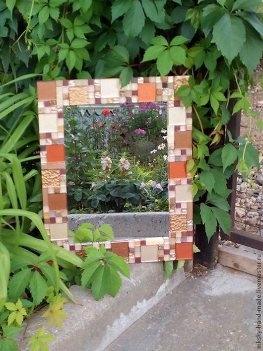 Зеркало `Аромат пряностей`, декорированное мозаикой, - оригинальные и уникальный предмет интерьера, оно всегда будет изюминкой в Вашем доме. Мы дарим Вам тепло наших рук. MKsky