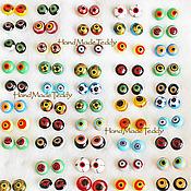 Материалы для творчества ручной работы. Ярмарка Мастеров - ручная работа Глазки для игрушек крейзи глазки. Handmade.