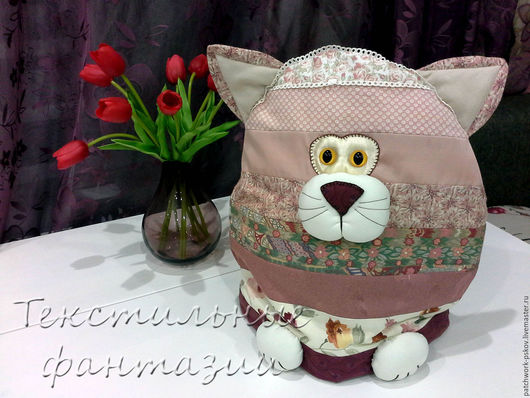 Кухня ручной работы. Ярмарка Мастеров - ручная работа. Купить Грелка на чайник/кастрюлю  Прованская кошка. Handmade. Комбинированный, прованский стиль