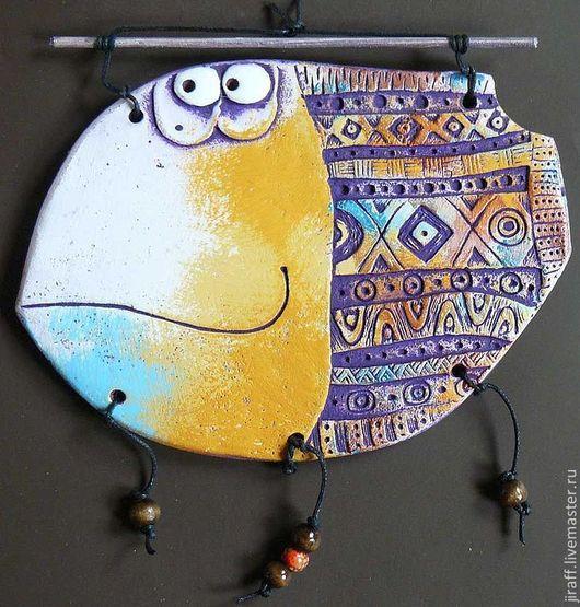 Животные ручной работы. Ярмарка Мастеров - ручная работа. Купить Рыба Уругвай. Handmade. Панно, панно на стену